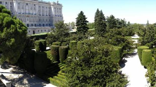 Panorámica de los Jardines de Sabatini, frente al Palacio Real