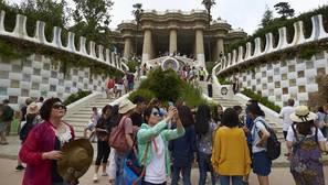 Turistas en Barcelona, esta semana