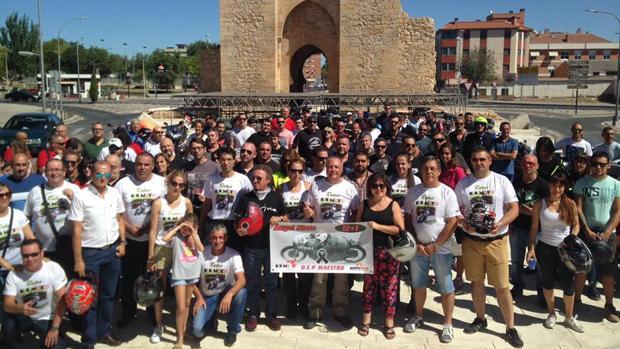 Los moteros que han acudido al homenaje a Ángel Nieto en Ciudad Real