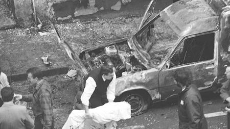 Una imagen del atentado que le costó la vida a Modesto Rico Pasarín