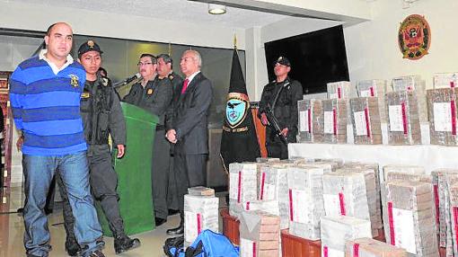 Arriba, el narco cuando fue capturado en Perú, en 2013