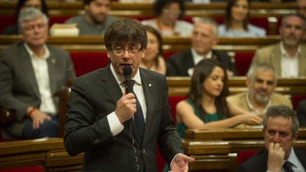 Puigdemont, recientemente en el Parlamento catalán
