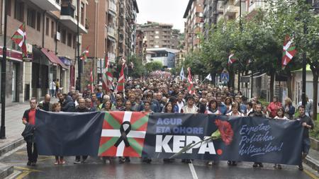 Protesta por la política penitenciaria tras la muerte de Kepa del Hoyo
