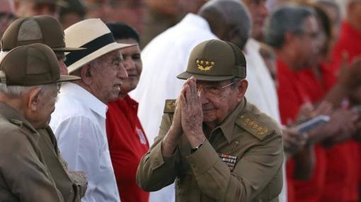 Raúl Castro durante el acto del Día de la Rebeldía Nacional en la ciudad de Pinar del Río (Cuba)