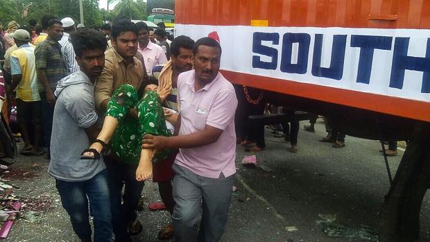 Imagen del siniestro ocurrido en India en el que murieron cuatro españoles