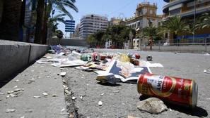 Imagen de archivo de suciedad en una calle de Alicante