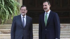 El presidente del Gobierno en su audiencia con Felipe VI en 2015