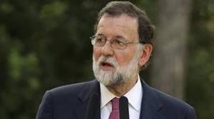 Mariano Rajoy, durante su rueda de prensa tras su reunión con el Rey Felipe VI