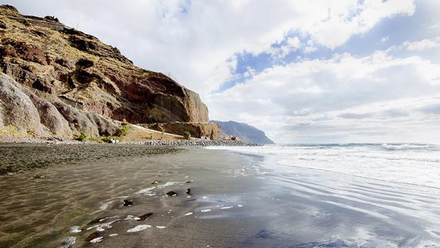 Playa de Las Teresitas, Tenerife, este jueves