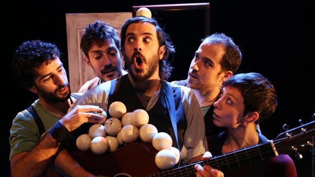 Imatge de la representació La Trócola Circo «Emportats»