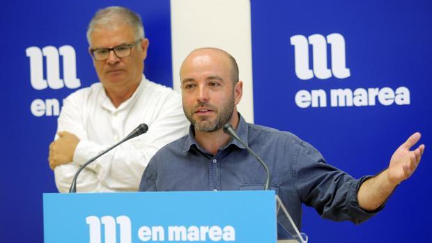 Villares ayer en el Parlamento de Galicia