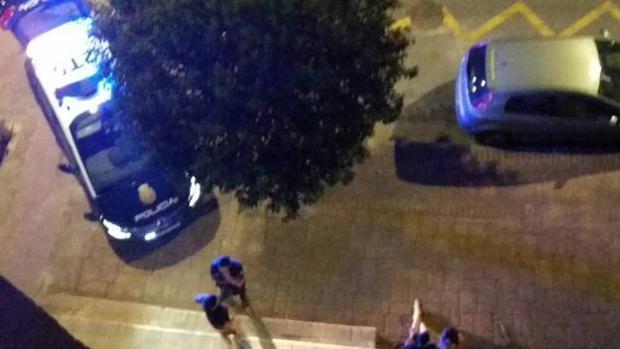 Despliegue policial en la noche de los hechos