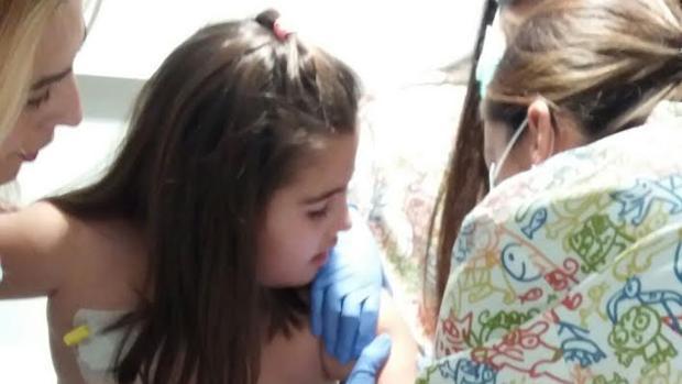 Lucía recibió una vacuna experimental