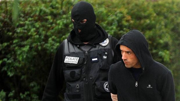 Mikel Irastorza, durante su detención en noviembre de 2016