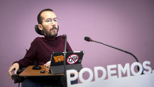 Pablo Echenique en una rueda de prensa