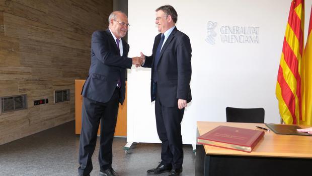 Ximo Puig, en la toma de posesión de Andrés García Reche como vicepresidente de la Agencia Valenciana de la Innovación