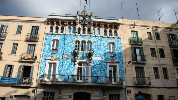 La fachada, ayer ya pintada