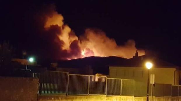 Imagen del incendio de Cañamares