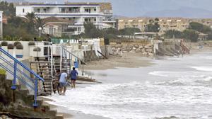 Imagen de archivo de la playa de Denia