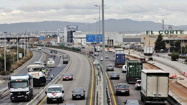Imagen de archivo de la carretera A-3 a la altura de Valencia