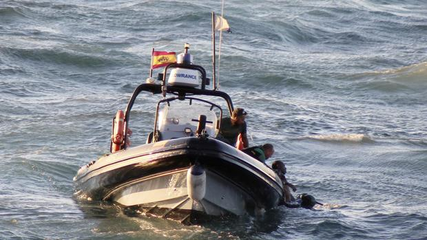 Inmigrantes rescatados por Salvamento Marítimo