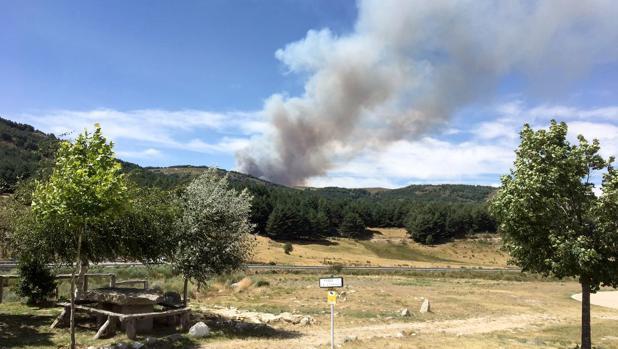Incendio de Navarredonda de Gredos, en una imagen de archivo