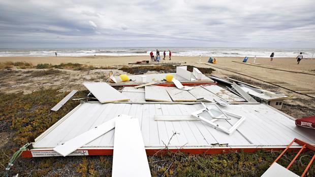 Imagen de los desperfectos que deja el temporal de Denia de este miércoles