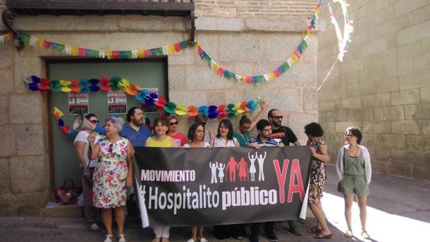El movimiento «¡Hospitalito Ya!» entre otros representantes esta mañana