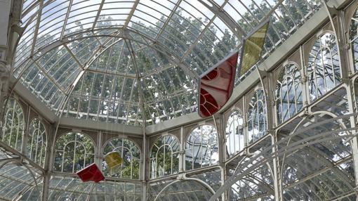 Algunas de las piezas expuestas en el Palacio de Cristal