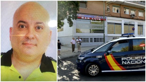 La víctima, de 47 años, junto al bar en el que fue asesinado