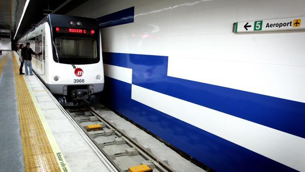 Imagen de archivo de una parada de metro en Valencia