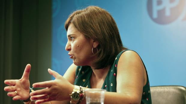 Imagen de Isabel Bonig en la entrevista para la agencia EFE