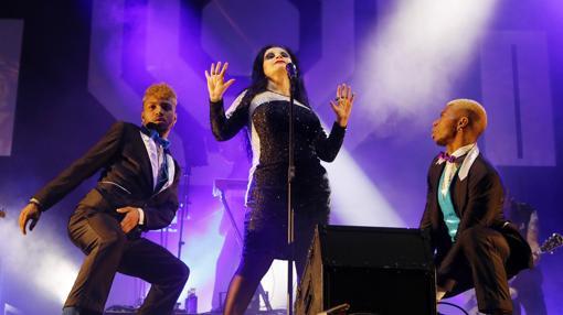 Imagen del concierto de Fangoria celebrado ayer en Mutxamel