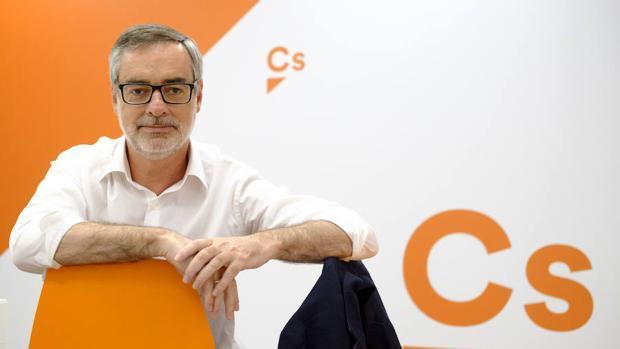 José Manuel Villegas en la sede de Ciudadanos en la madrileña calle de Alcalá
