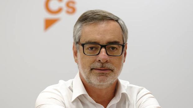 José Manuel Villegas, durante su entrevista con ABC en la sede de Ciudadanos