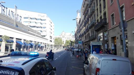 Despliegue policial en Las Ramblas de Barcelona