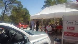 imagten del espacio instalado del operativo de búsqueda de Cruz Roja y la guardia Civil