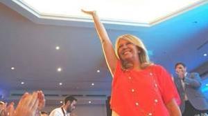 La líder del PP de Marbella, Ángeles Muñoz, durante un acto de partido