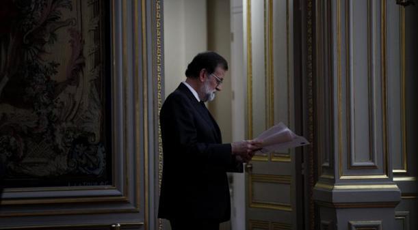Mariano Rajoy, este lunes, en París, donde acudió para participar en la cumbre del G-4