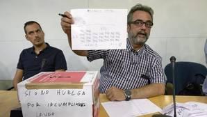 El asesor del comité de huelga de los trabajadores de Eulen del Aeropuerto de Barcelona-El Prat, Juan Carlos Giménez