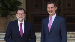 Mariano Rajoy y Don Felipe, en Marivent
