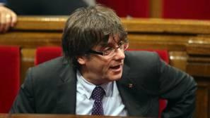 Carles Puigdemont, en el Pleno de este jueves