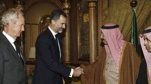 El Rey Felipe VI durante su visita a Arabia Saudí el pasado mes de enero