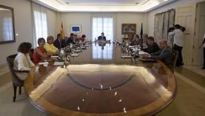 Rajoy preside el Consejo de Ministros, en una imagen del pasado jueves