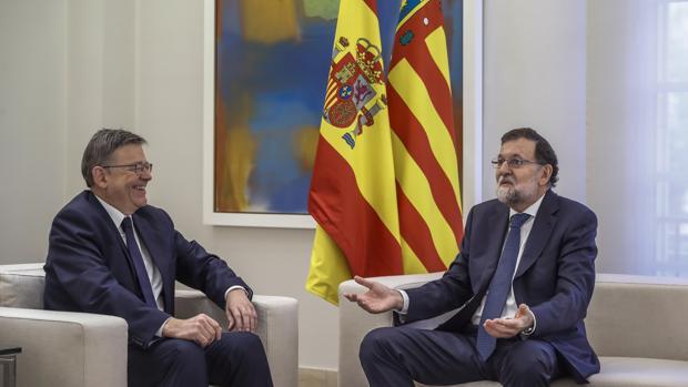 Imagen de la reunión entre Ximo Puig y Mariano Rajoy este jueves