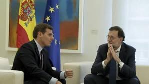 Rajoy y Rivera durante la reunión que mantuvieron este jueves en el Palacio de La Moncloa