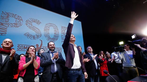 Pedro Sánchez, en un acto de partido