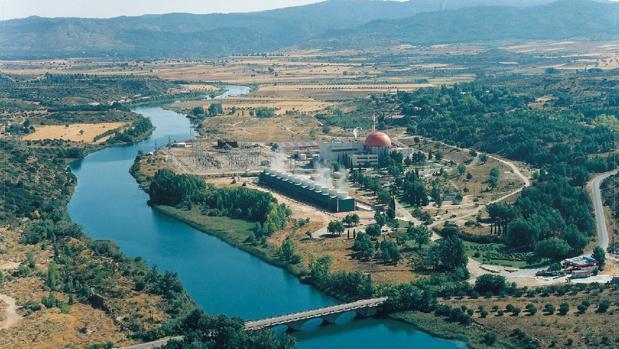 Vista aérea de la central nuclear José Cabrera de Almonacid de Zorita