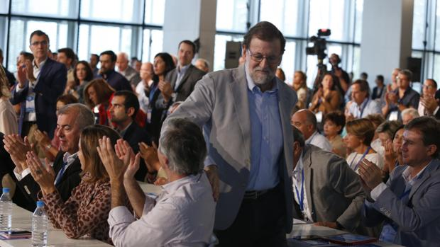 Mariano Rajoy, en la Intermunicipal del PP celebrada en Zaragoza