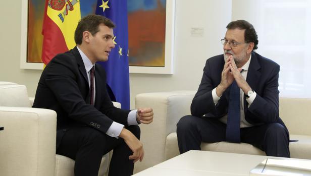 Albert Rivera y Mariano Rajoy, en el Palacio de La Moncloa esta semana